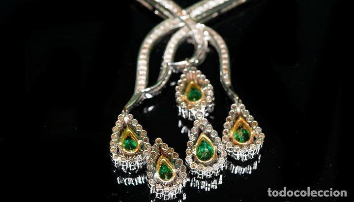 Joyeria: Alta Joyeria, Importante Collar, 12,30ct Diamantes VVS-G, 3,75ct de excepcionales Esmeraldas de Muzo - Foto 16 - 121084771