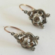 Joyeria - Pendientes antiguos, oro, plata y diamantes - 121150255
