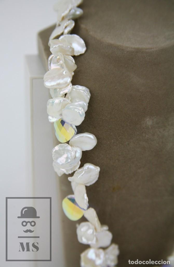 Joyeria: Collar de Perlas Barrocas Cultivadas y Cristales Tallados - Lucas Lameth, Plata 925 Milésimas - Foto 2 - 121235347