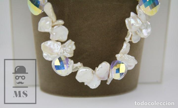 Joyeria: Collar de Perlas Barrocas Cultivadas y Cristales Tallados - Lucas Lameth, Plata 925 Milésimas - Foto 3 - 121235347