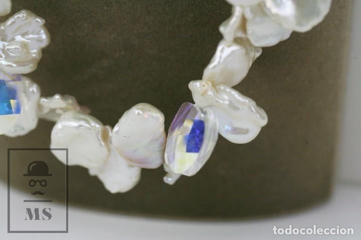 Joyeria: Collar de Perlas Barrocas Cultivadas y Cristales Tallados - Lucas Lameth, Plata 925 Milésimas - Foto 4 - 121235347