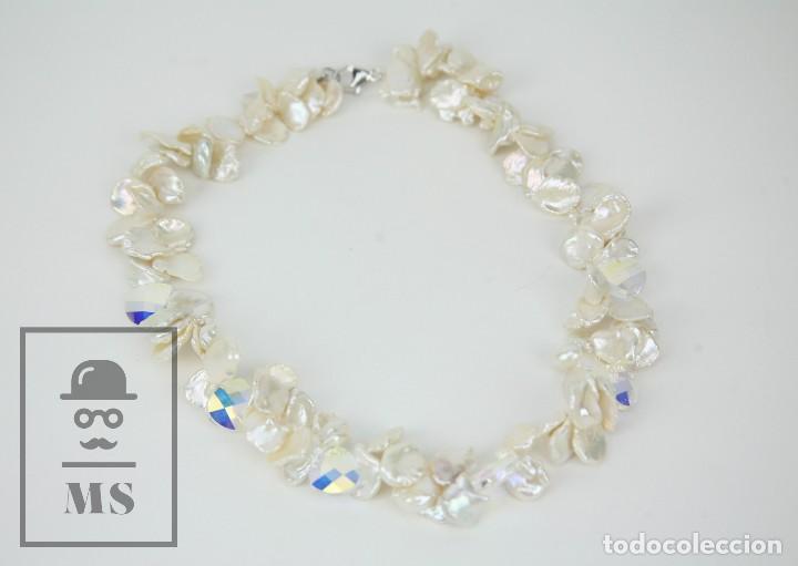 Joyeria: Collar de Perlas Barrocas Cultivadas y Cristales Tallados - Lucas Lameth, Plata 925 Milésimas - Foto 6 - 121235347