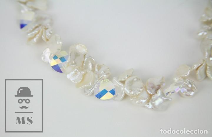 Joyeria: Collar de Perlas Barrocas Cultivadas y Cristales Tallados - Lucas Lameth, Plata 925 Milésimas - Foto 7 - 121235347