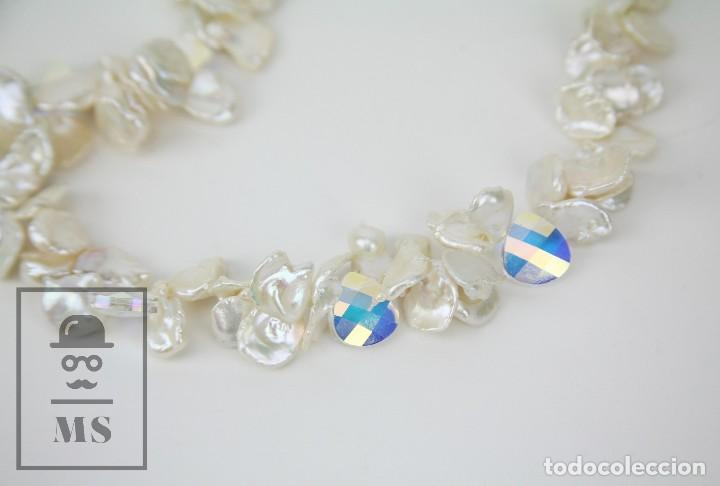 Joyeria: Collar de Perlas Barrocas Cultivadas y Cristales Tallados - Lucas Lameth, Plata 925 Milésimas - Foto 8 - 121235347