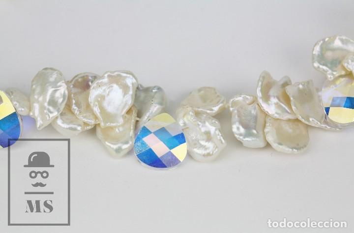 Joyeria: Collar de Perlas Barrocas Cultivadas y Cristales Tallados - Lucas Lameth, Plata 925 Milésimas - Foto 9 - 121235347