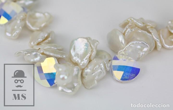 Joyeria: Collar de Perlas Barrocas Cultivadas y Cristales Tallados - Lucas Lameth, Plata 925 Milésimas - Foto 11 - 121235347