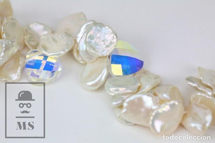 Joyeria: Collar de Perlas Barrocas Cultivadas y Cristales Tallados - Lucas Lameth, Plata 925 Milésimas - Foto 14 - 121235347
