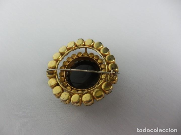 Joyeria: Broche antiguo en Cristal de roca con camafeo de dama en espejo mediados s XX - Foto 3 - 121241847