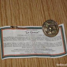 Joyeria: BROCHE REPRODUCCION EPOCA COLOMBINA Y CERTIFICADO DE ORIGEN Y FABRICACION. Lote 121721355