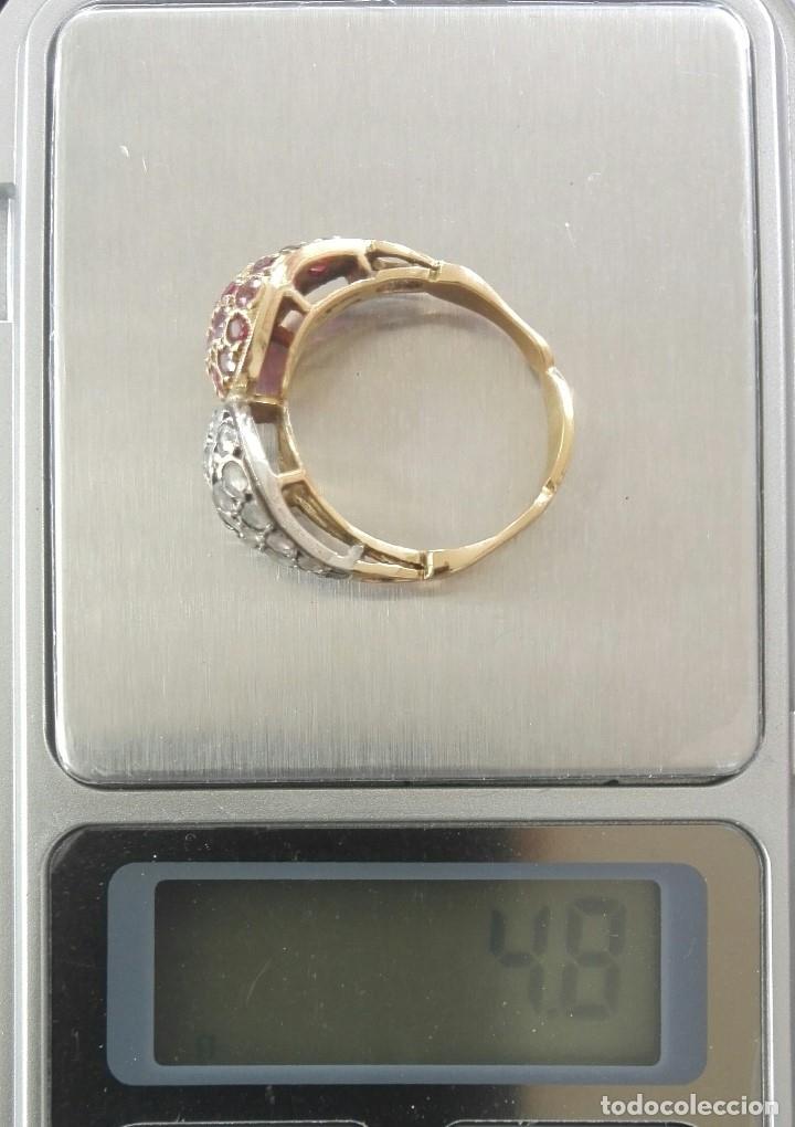Joyeria: c1905 exclusivo hecho a medida Tu y Yo 20kt quilates Oro Blanco y Amarillo, diamantes y Rubíes. - Foto 8 - 120576515