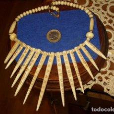Joyeria: COLLAR DE HUESO,GARGANTILLA,AÑOS 70.. Lote 122285119