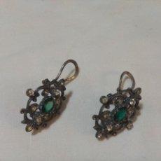 Joyeria - Antiguos pendientes de plata y piedras. - 123074827