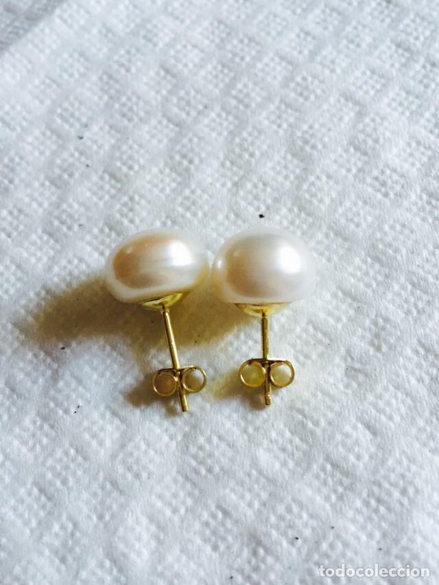 Joyeria: Pendientes de perla natural cultivada y oro de 18 klts - Foto 2 - 123126078