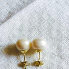 Joyeria - Pendientes de perla natural cultivada y oro de 18 klts - 123126380