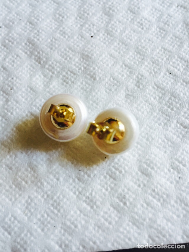 Joyeria: Pendientes de perla natural cultivada y oro de 18 klts - Foto 3 - 123126592
