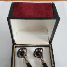 Joyeria - Preciosos pendientes en plata y azabache. Silver earrings. - 123274531