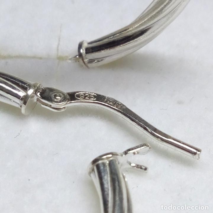 Joyeria: PENDIENTES CRIOLLAS DE PLATA DE LEY - CIERRE BALLESTILLA - MEDIDA 3 cm. - Foto 6 - 123369315