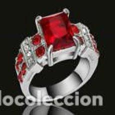 Joyeria: ANILLO CON RUBI DE RODIO LLENADO 18MM. Lote 123580891