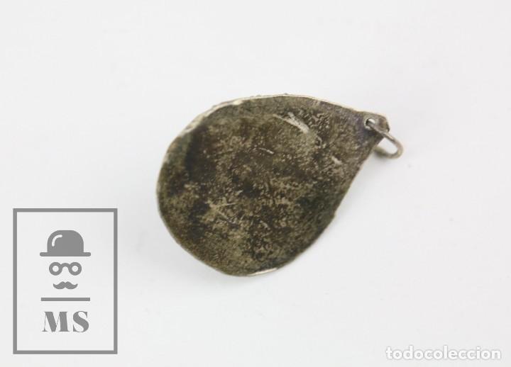 Joyeria: Colgante Oriental Artesanal - Plata con Filigrana y Piedra Incrustada - Tailandia ? - Foto 4 - 123587303