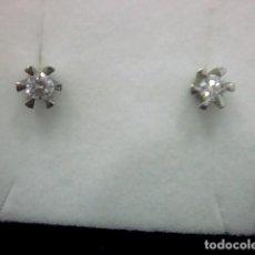 Joyeria - pendientes oro blanco 18 kl y diamantes - 124482907