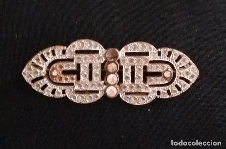 Joyeria: Antiguo broche Art Deco con circonitas - Foto 2 - 124529595