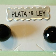 Joyeria - PENDIENTES DE PIEDRA MINERAL NATURAL FACETADA CON CIERRE PLATA DE LEY 925 - 124702619