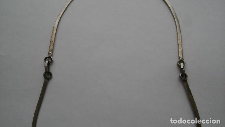 Joyeria: Antiguo raro collar diseño reversible con incrustaciones nácar, época retro original. Med. s XX - Foto 10 - 125117951