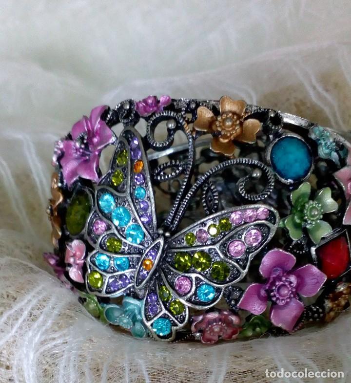 Joyeria: Alegre brazalete de pedrería de colores con mariposas - Foto 7 - 125269155