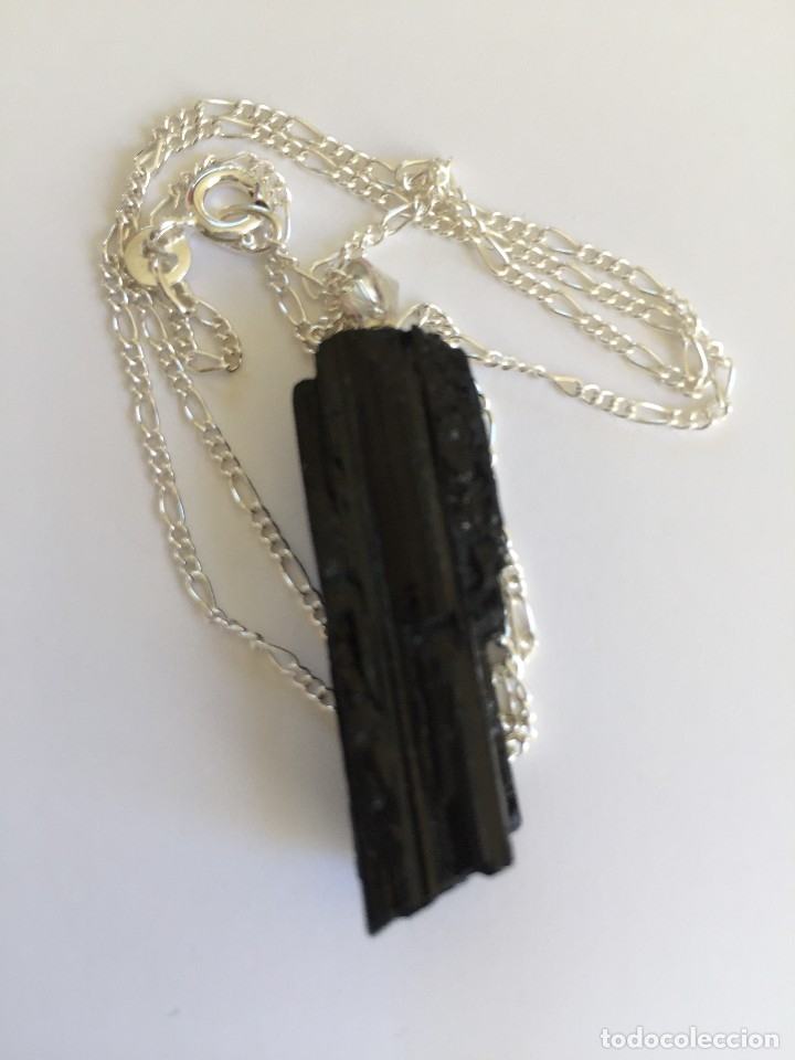 Joyeria: Collar de plata de ley 925 con colgante de turmalina negra natural - Foto 4 - 126425040