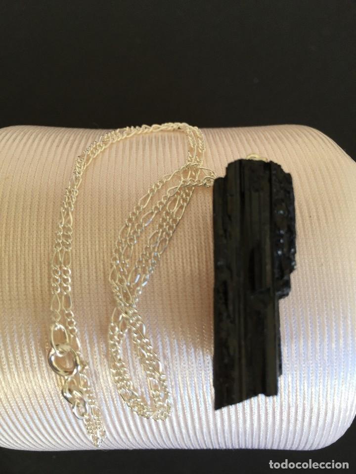 Joyeria: Collar de plata de ley 925 con colgante de turmalina negra natural - Foto 5 - 126425040