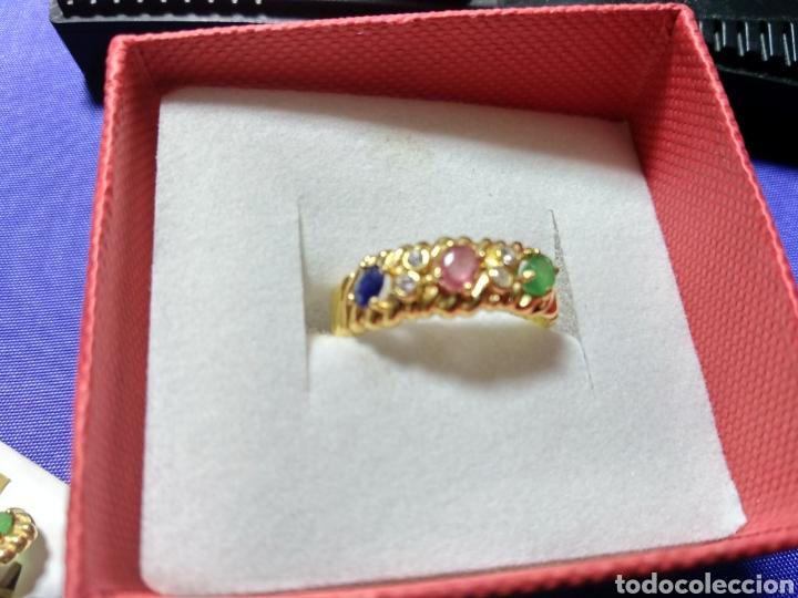 Joyeria: Juego pendientes y anillo oro 18 k. Leer texto - Foto 2 - 126438592