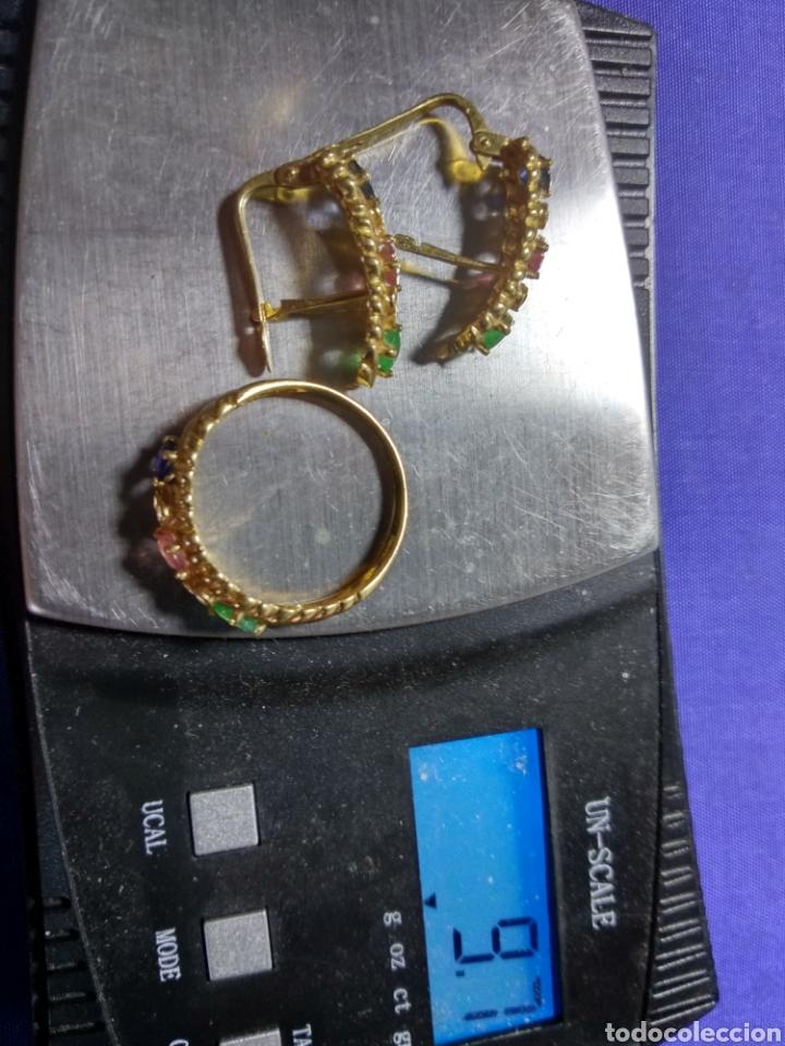 Joyeria: Juego pendientes y anillo oro 18 k. Leer texto - Foto 4 - 126438592