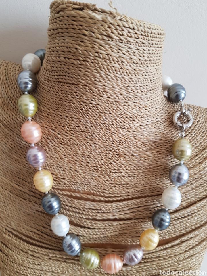 f36c79f71aba Precioso collar perlas ovales mallorca colores - Vendido en Subasta ...