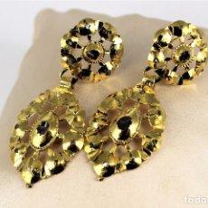 Joyeria - antiguos pendientes de oro 18 k y diamantes - 126674427
