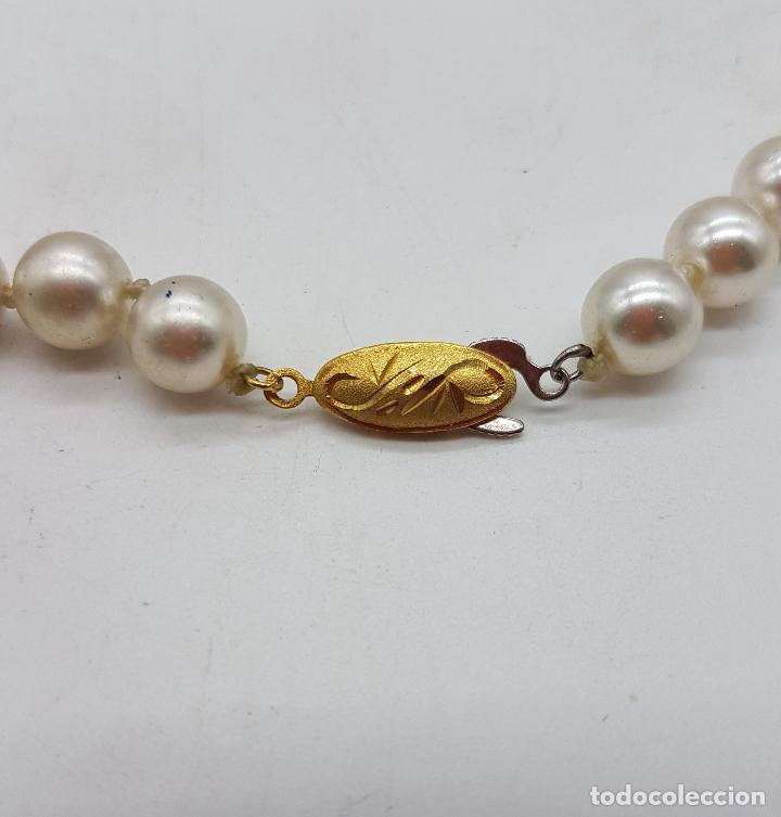 Joyeria: Gargantilla antigua de perlas con cuentas de coral piel de ángel y lapistázuli, cierre de plata . - Foto 8 - 126950831