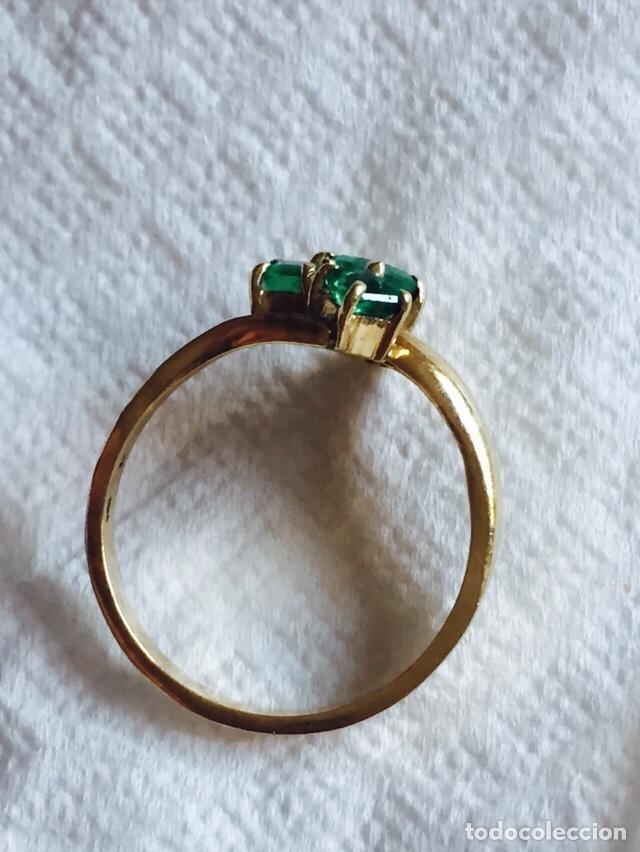 Joyeria: Precioso anillo oro de 18 klts y 3 esmeraldas naturales - Foto 4 - 127555094