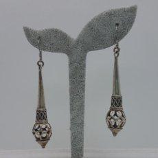 Schmuck - Excelentes pendientes antiguos de diseño modernista en plata de ley contrastada. - 127642503