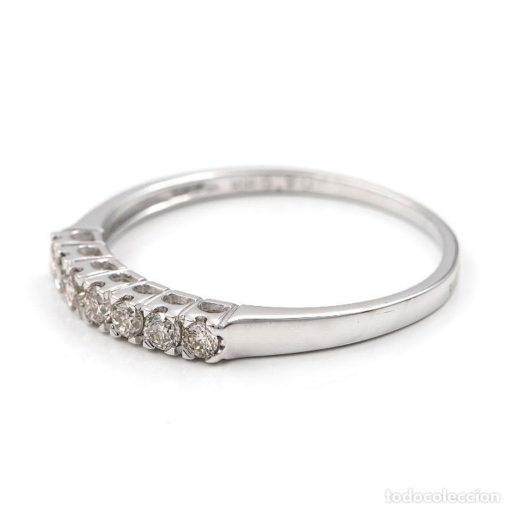 Joyeria: Anillo de oro blanco con diamantes talla brillante - Foto 2 - 155089368