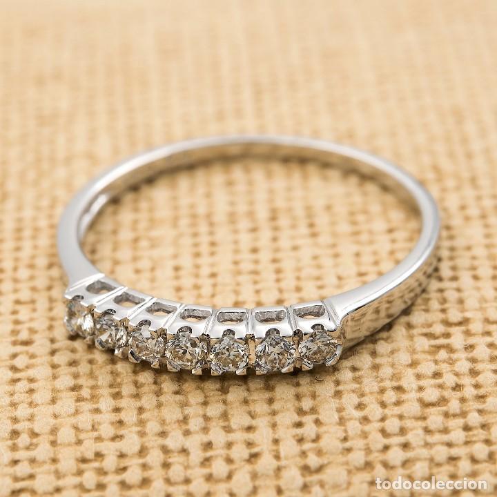 Joyeria: Anillo de oro blanco con diamantes talla brillante - Foto 3 - 155089368