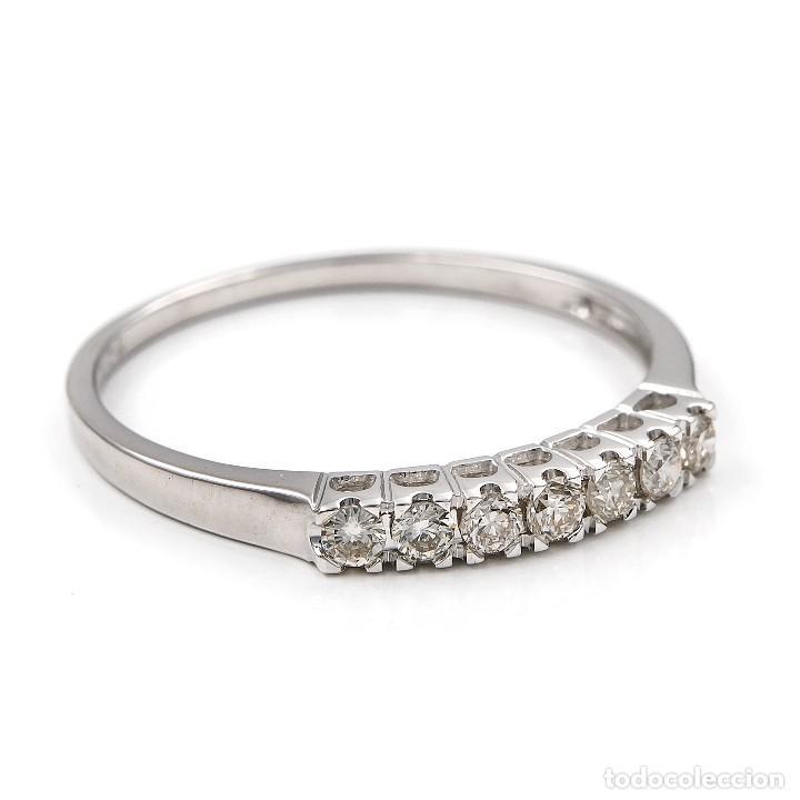 Joyeria: Anillo de oro blanco con diamantes talla brillante - Foto 4 - 155089368