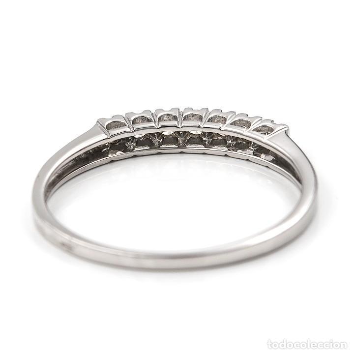 Joyeria: Anillo de oro blanco con diamantes talla brillante - Foto 5 - 155089368