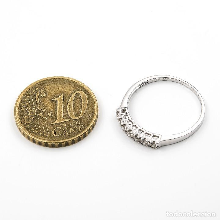 Joyeria: Anillo de oro blanco con diamantes talla brillante - Foto 6 - 155089368