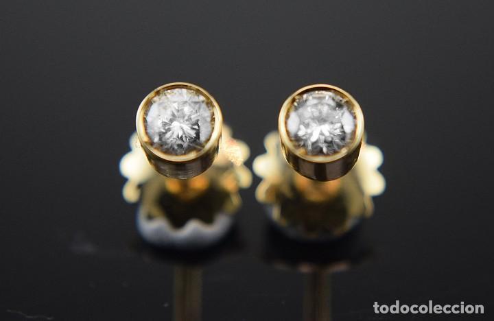 Joyeria: LIQUIDACIÓN, pendientes Dormilonas de diamantes 0,83ct SI-H en oro 18K - Foto 2 - 128031403