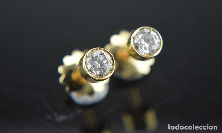 Joyeria: LIQUIDACIÓN, pendientes Dormilonas de diamantes 0,83ct SI-H en oro 18K - Foto 3 - 128031403