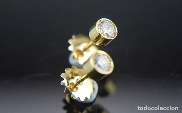 Joyeria: LIQUIDACIÓN, pendientes Dormilonas de diamantes 0,83ct SI-H en oro 18K - Foto 4 - 128031403