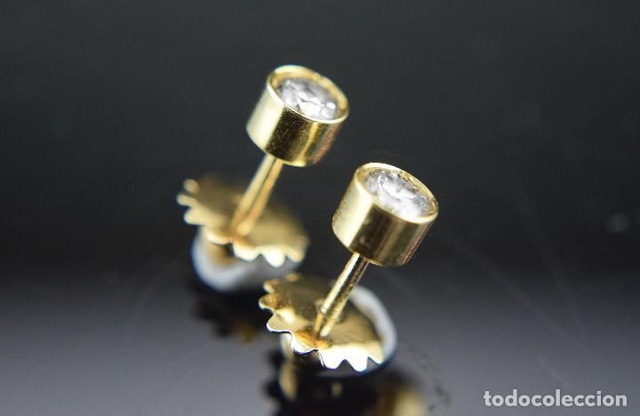 Joyeria: LIQUIDACIÓN, pendientes Dormilonas de diamantes 0,83ct SI-H en oro 18K - Foto 5 - 128031403