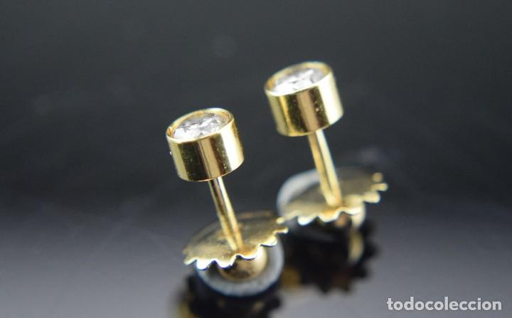 Joyeria: LIQUIDACIÓN, pendientes Dormilonas de diamantes 0,83ct SI-H en oro 18K - Foto 8 - 128031403