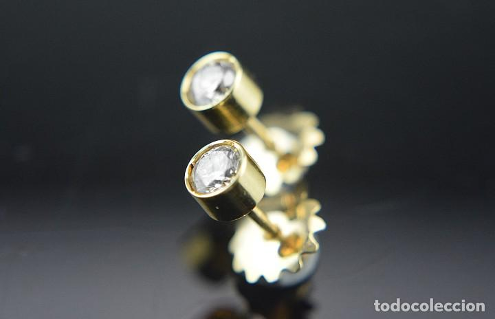 Joyeria: LIQUIDACIÓN, pendientes Dormilonas de diamantes 0,83ct SI-H en oro 18K - Foto 9 - 128031403