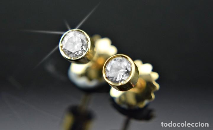 Joyeria: LIQUIDACIÓN, pendientes Dormilonas de diamantes 0,83ct SI-H en oro 18K - Foto 10 - 128031403