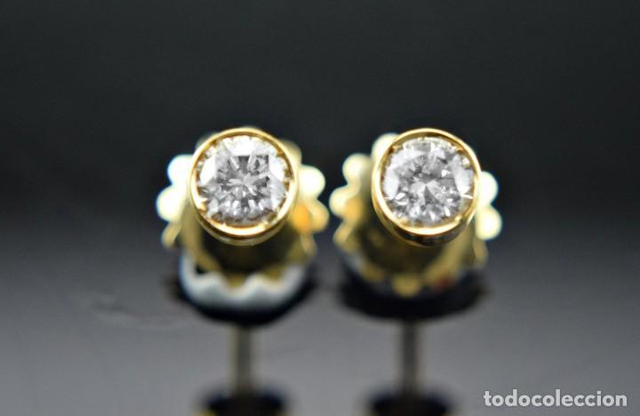 Joyeria: LIQUIDACIÓN, pendientes Dormilonas de diamantes 0,83ct SI-H en oro 18K - Foto 11 - 128031403